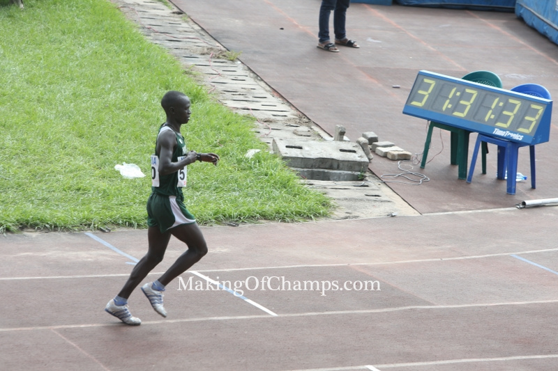 Emmanuel Gyang finished ahead of his rivals in the 10,000m.