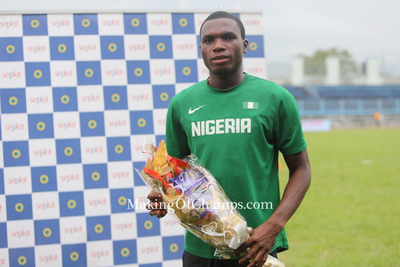 This is Divine Oduduru's second 200m National Title, having won GOLD two years ago in Calabar.