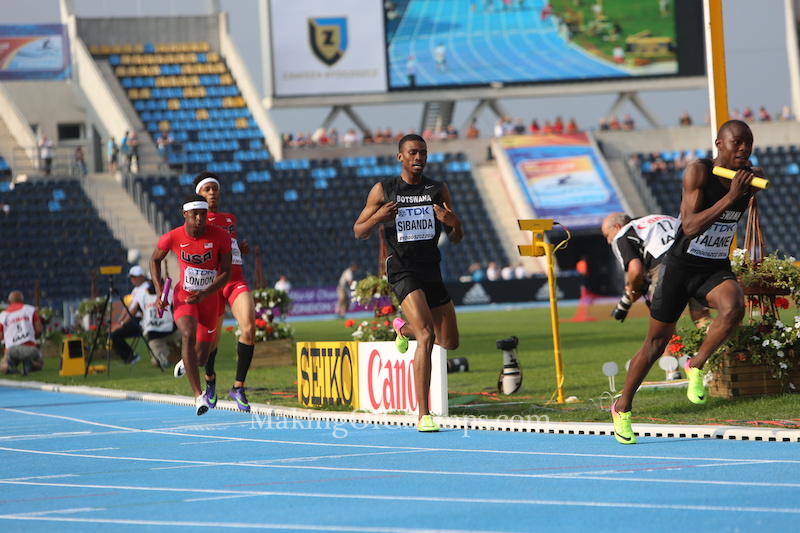 Xholani took the final leg for Botswana. Photo Credit: Making of Champions / PaV Media Ltd