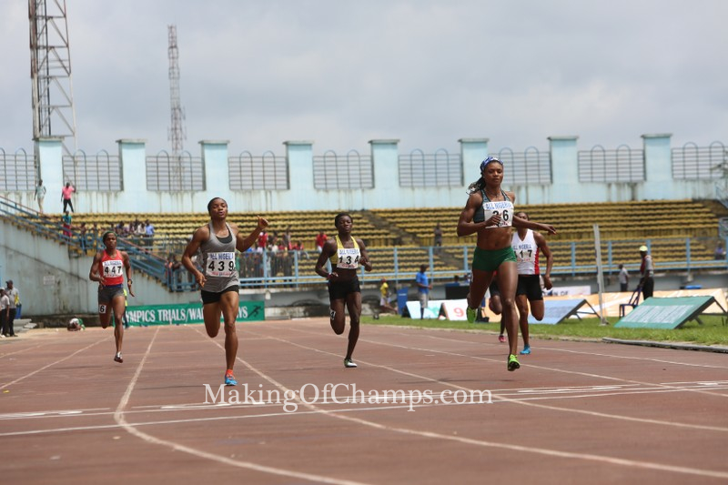 Patience Okon George was not really troubled in heat 1