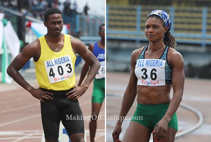 Image result for Nigeria's Ajayi, Okon-George, Bamgbose reach 400m  IAAF semis