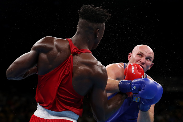Ivan Dychko defeated Efe Ajagba in their quarterfinal bout, in men's +91kg Super heavyweight category Getty Images)