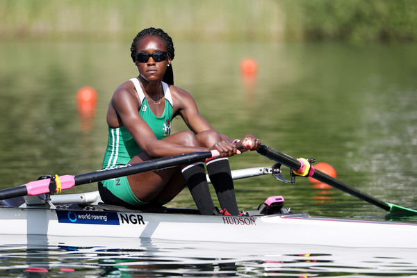 Chierika Ukogu is the first Nigerian Rower to ever qualify for the semifinals of the Rowing event at the Olympics. Photo Credit: Getty Images