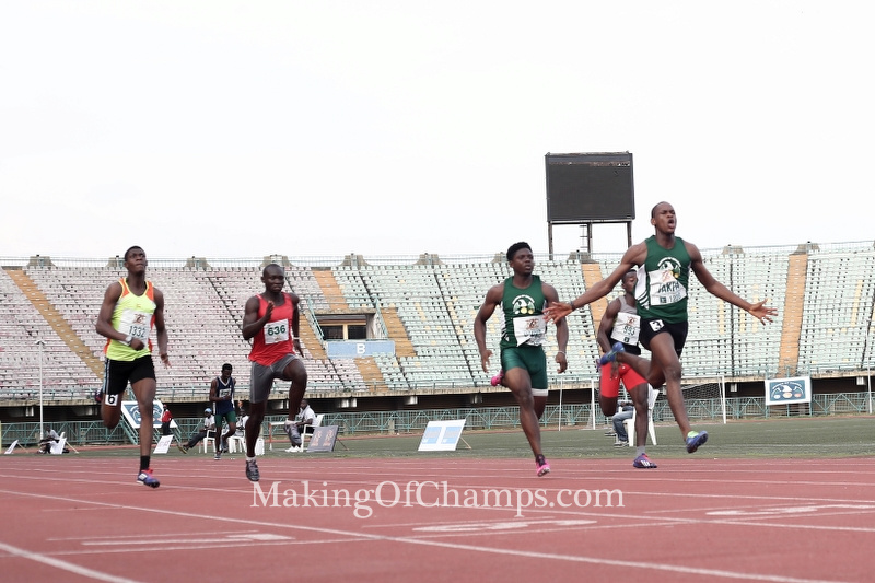 Jakpa inspired a 1-2 for MoC in the men's 100m Juniors.