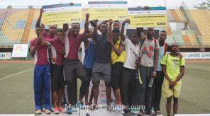 4x400m men's medallists