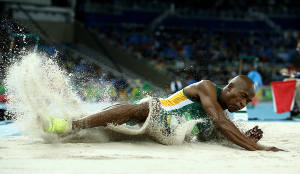 Luvo Manyonga in action at the Rio 2016 Olympics. Photo Credit: Cameron Spencer/Getty Images