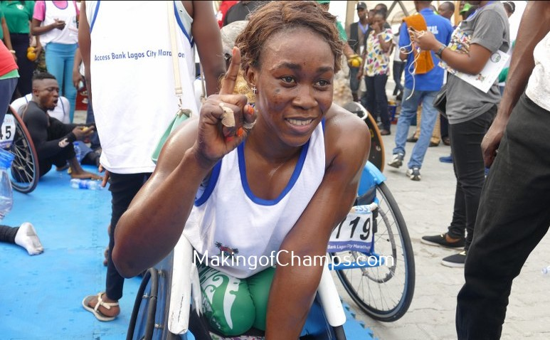 Babalola was pleased with her performance at the Access Bank Wheelchair race.