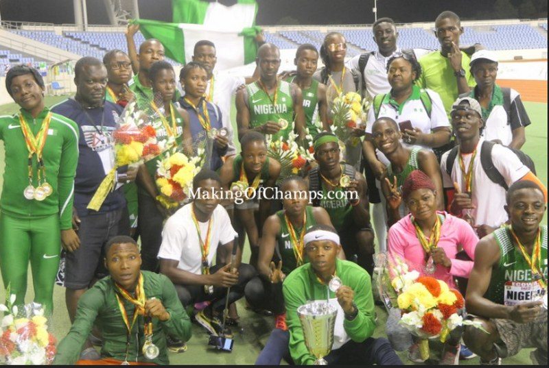 Team Nigeria wins 16 GOLD medals to emerge Champions of